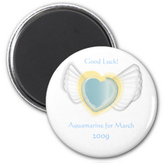 Viel Glück-Magnet für März Runder Magnet 5,7 Cm