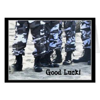 Viel Glück-Militär lädt Grußkarte auf