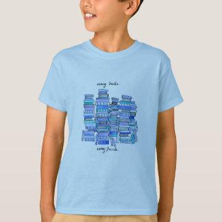 Viele Bücher, das T-Stück viel Freund-Kindes T-Shirt