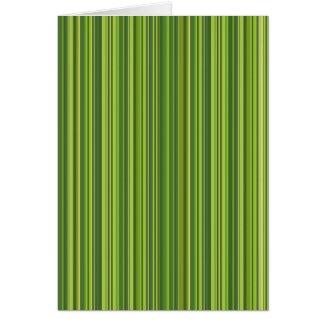 Viele bunte Streifen im grünen Muster Karte