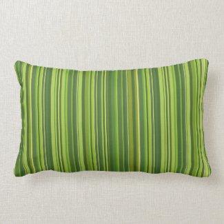 Viele bunte Streifen im grünen Muster Zierkissen