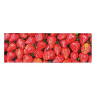 Viele Erdbeeren! Namenschild