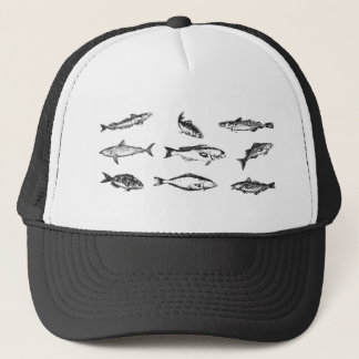Viele Fische: eine Sammlung Fischschwimmen Truckerkappe