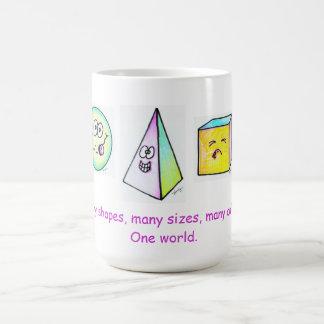 Viele Formen, viele Farben eine Welt Kaffeetasse