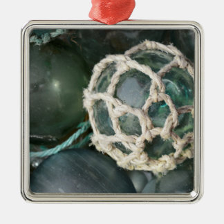Viele Glasfischenflöße, Alaska Silbernes Ornament