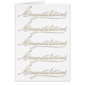 Viele Glückwünsche Karte