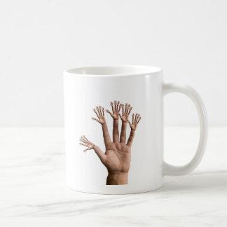Viele Hände Kaffeetasse