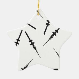 Viele kleine Hamburger Fernsehtürme Keramik Stern-Ornament