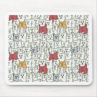 Viele lustigen Katzen Mousepad