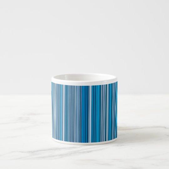 Viele mehrfarbigen Streifen im Blauen… Espressotasse
