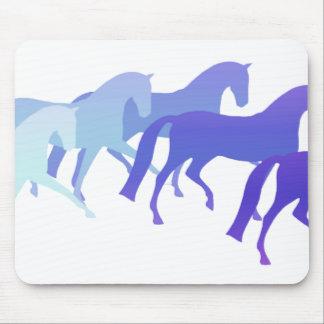 Viele Pferde (Blues) Mousepad