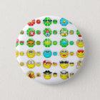 viele Smiley Runder Button 5,1 Cm