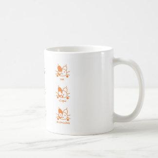 Viele Stimmungen der Katzen Kaffeetasse