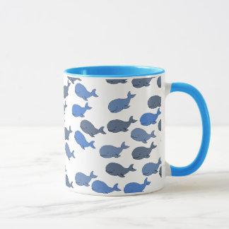 viele Wale ~ niedliches Muster Tasse