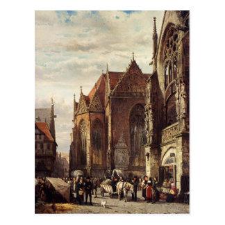 Viele Zahlen auf dem Marktplatz vor… Postkarte