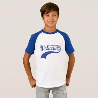 Vielfrass-Baseballraglan-Jungen T-Shirt