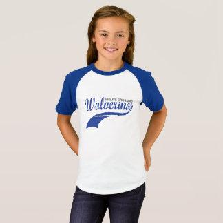 Vielfrass-Baseballraglan-Mädchen T-Shirt