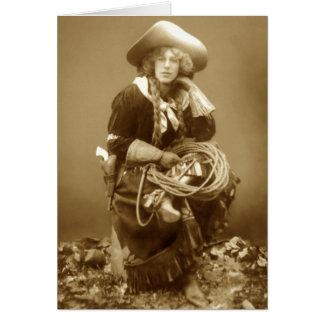 Vielseitiges Cowgirl Karte
