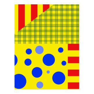 Vielzahl der Muster Postkarte