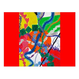 Vielzahl der Weg-abstrakten Malerei Postkarte