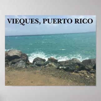 VIEQUES, PUERTO RICO PLAKAT