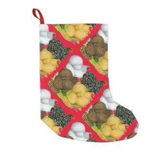 Vier Cochin-Hennen Kleiner Weihnachtsstrumpf