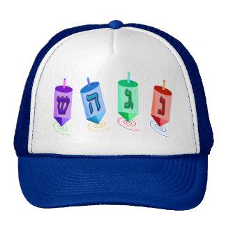 Vier Dreidels Hüte Retrokultmütze