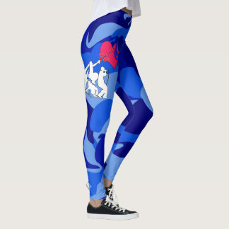 Vier Element-Musik-Tarnung Leggings