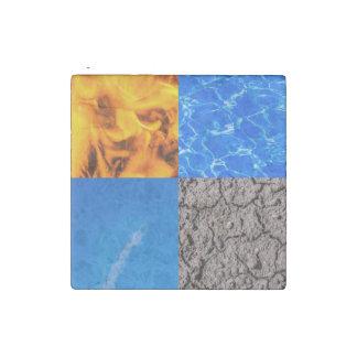 Vier Elemente Stein-Magnet