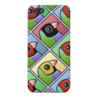 Vier FarbeGouldian Fink iPhone 5 Etui