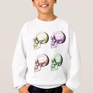 Vier farbige menschliche Schädel Sweatshirt