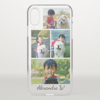 Vier Foto-Collage mit kundenspezifischem iPhone X Hülle