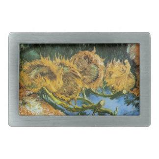 Vier geschnittene Sonnenblumen, Vincent van Gogh Rechteckige Gürtelschnalle