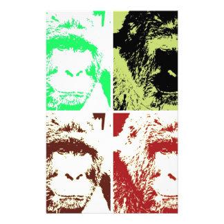 Vier Gorillas Briefpapier