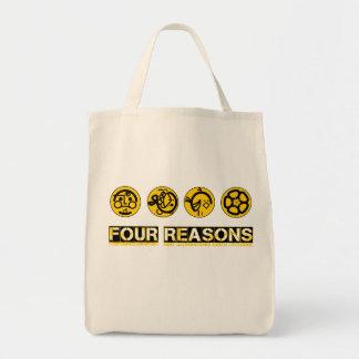 Vier Gründe, die Erde zu schützen Einkaufstasche
