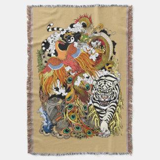vier himmlische Tiere Decke