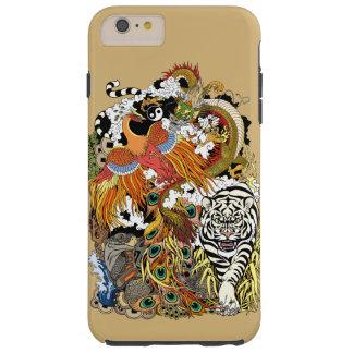 vier himmlische Tiere Tough iPhone 6 Plus Hülle