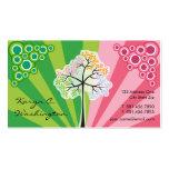 Vier Jahreszeit-Baum-bunte Streifen-Visitenkarten