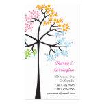 Vier Jahreszeit-Baum-Natur-WaldVisitenkarten Visitenkartenvorlage