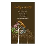 Vier Jahreszeit-Baum-Natur-WaldVisitenkarten Visitenkarten Vorlagen