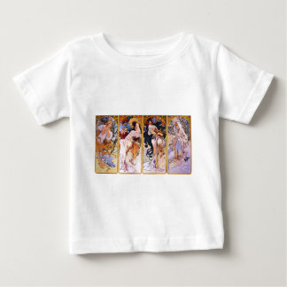 Vier Jahreszeiten durch Alphonse Mucha Baby T-shirt