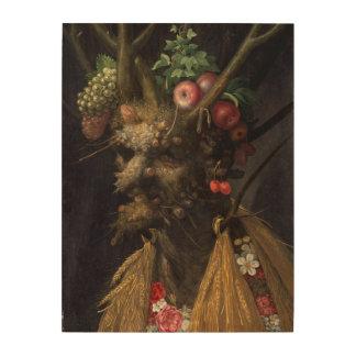 Vier Jahreszeiten in einem Kopf durch Giuseppe Holzdruck