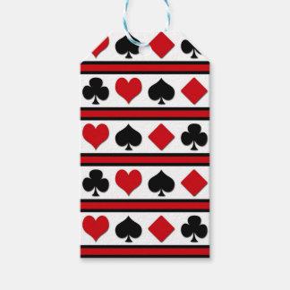 Vier Karten-Anzüge Geschenkanhänger