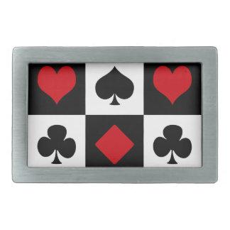 Vier Karten-Anzüge Rechteckige Gürtelschnalle