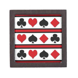 Vier Karten-Anzüge Schmuckkiste