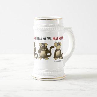 Vier kluger Affe-Spaß Bierglas