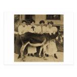 Vier Königinnen und ein JackSepia Postkarte