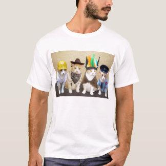 Vier lustige Katzen T-Shirt