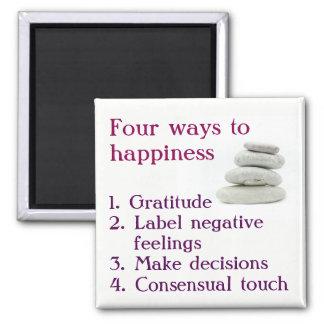 Vier Möglichkeiten zum Glück Quadratischer Magnet