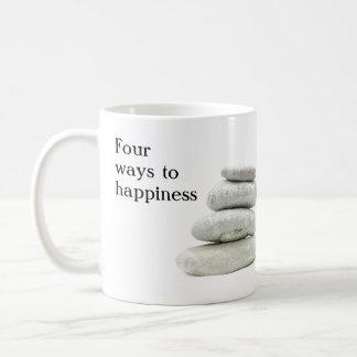 Vier Möglichkeiten zum Glück Tasse